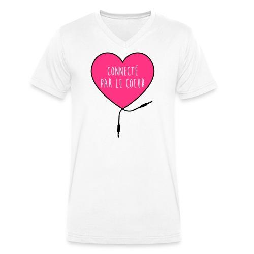 connecté par le coeur - T-shirt bio col V Stanley & Stella Homme