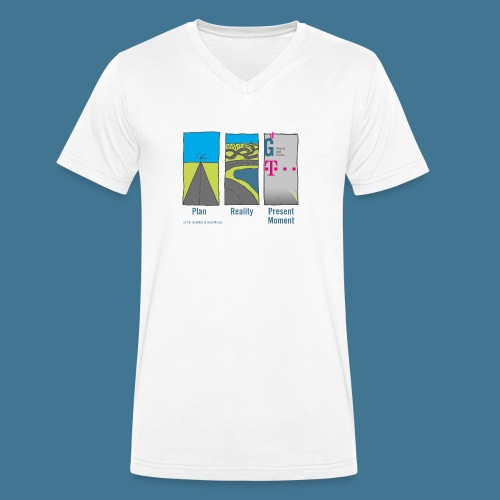 Wege telekom - Männer Bio-T-Shirt mit V-Ausschnitt von Stanley & Stella