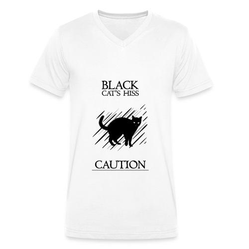black cat - Camiseta ecológica hombre con cuello de pico de Stanley & Stella