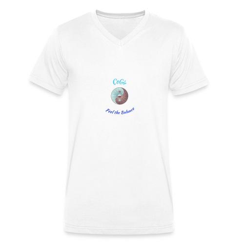 CoGie, Feel the Balance - Men's Organic V-Neck T-Shirt by Stanley & Stella