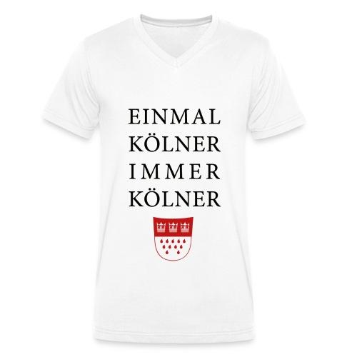 Einmal Kölner, immer Kölner - Männer Bio-T-Shirt mit V-Ausschnitt von Stanley & Stella