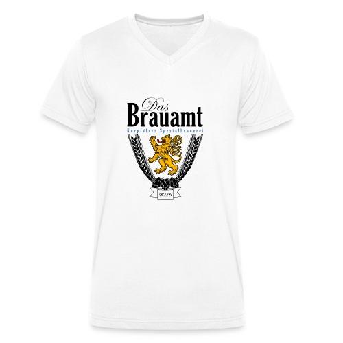 Brauamt Logo schwarz - Männer Bio-T-Shirt mit V-Ausschnitt von Stanley & Stella