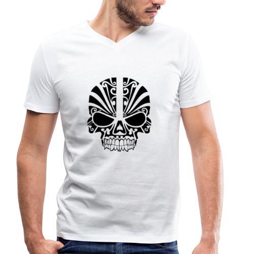 tribal skull - Männer Bio-T-Shirt mit V-Ausschnitt von Stanley & Stella