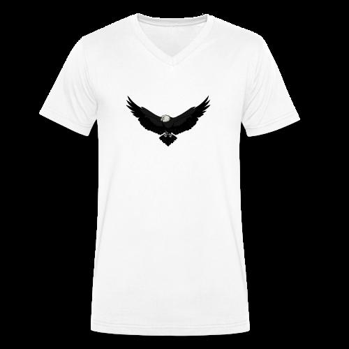 White BlackEagle Edition - Männer Bio-T-Shirt mit V-Ausschnitt von Stanley & Stella