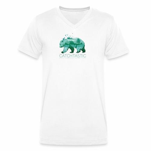 Bär Natur - Männer Bio-T-Shirt mit V-Ausschnitt von Stanley & Stella