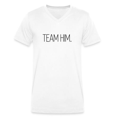 Team Him - Männer Bio-T-Shirt mit V-Ausschnitt von Stanley & Stella