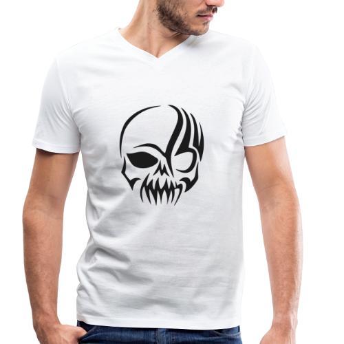 tribals skull - Männer Bio-T-Shirt mit V-Ausschnitt von Stanley & Stella