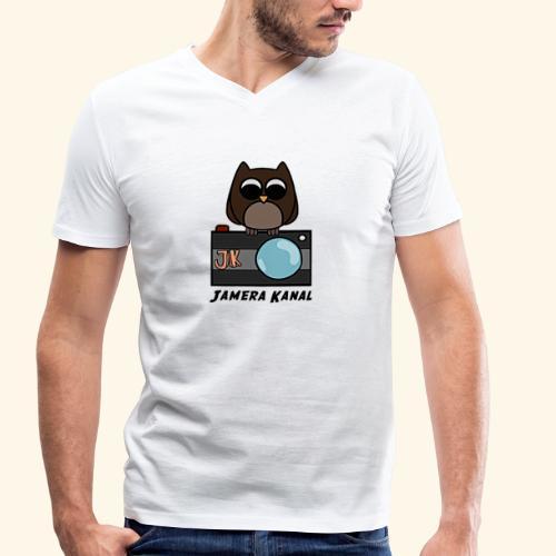 Die Jamera Eule - Männer Bio-T-Shirt mit V-Ausschnitt von Stanley & Stella