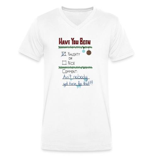 The Naugthy or Nice List - Økologisk Stanley & Stella T-shirt med V-udskæring til herrer