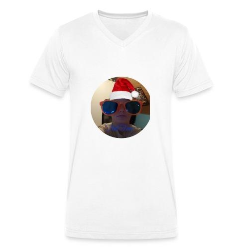 THAT FACE - Økologisk T-skjorte med V-hals for menn fra Stanley & Stella