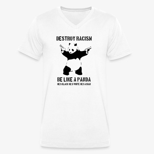 DESTROY RACISM - Men's Organic V-Neck T-Shirt by Stanley & Stella