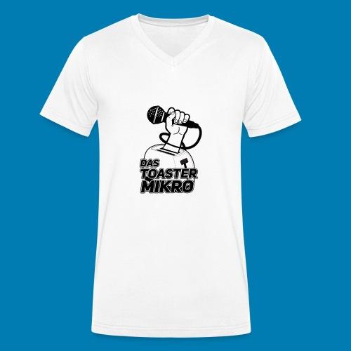 Toaster-Mikrofon Logo - Männer Bio-T-Shirt mit V-Ausschnitt von Stanley & Stella