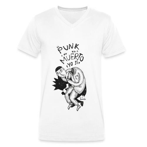 EL PUNK NO HA MUERTO - Camiseta ecológica hombre con cuello de pico de Stanley & Stella