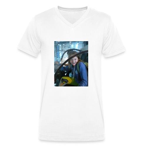 Cooles Guuurl - Männer Bio-T-Shirt mit V-Ausschnitt von Stanley & Stella