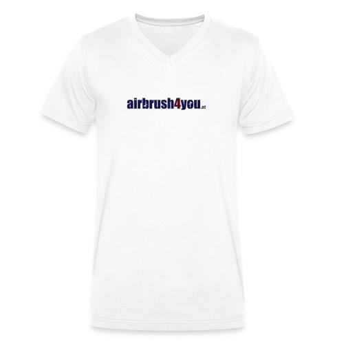 Airbrush Fashion Österreich - Männer Bio-T-Shirt mit V-Ausschnitt von Stanley & Stella