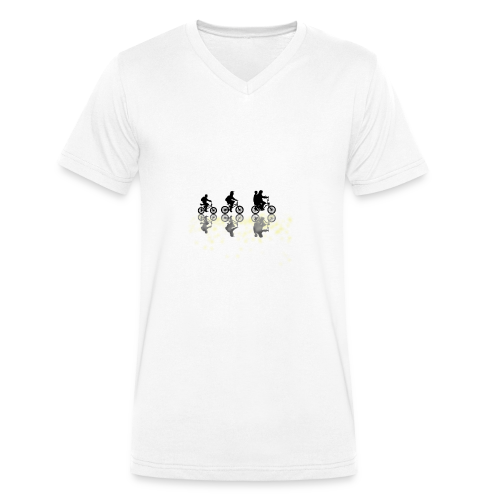 Stranger things bikes - Men's Organic V-Neck T-Shirt by Stanley & Stella