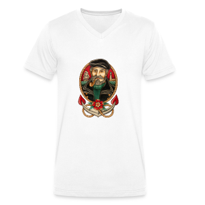 SEA CAPTAIN TATTOO - Men's Organic V-Neck T-Shirt by Stanley & Stella