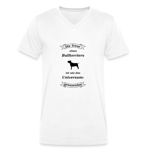 Bullterriers Treue - Männer Bio-T-Shirt mit V-Ausschnitt von Stanley & Stella