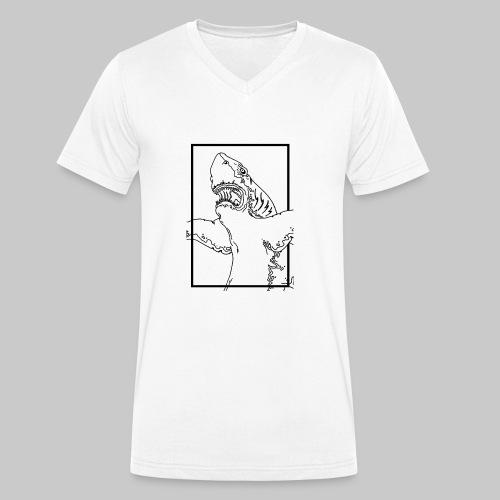 SHARK BLACK line - T-shirt bio col V Stanley & Stella Homme