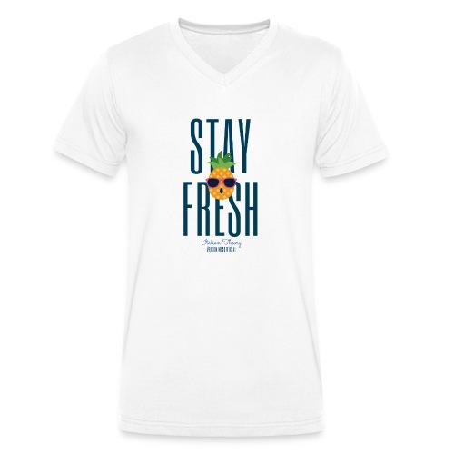 FRESH - T-shirt ecologica da uomo con scollo a V di Stanley & Stella