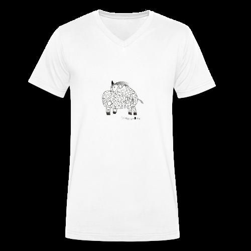schweinhorn shop - Männer Bio-T-Shirt mit V-Ausschnitt von Stanley & Stella