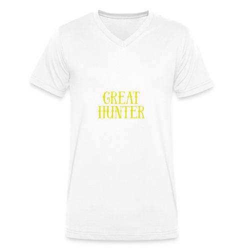 great hunter - Ekologiczna koszulka męska z dekoltem w serek Stanley & Stella