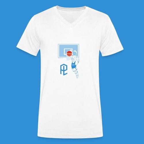 Logo Pielle - T-shirt ecologica da uomo con scollo a V di Stanley & Stella