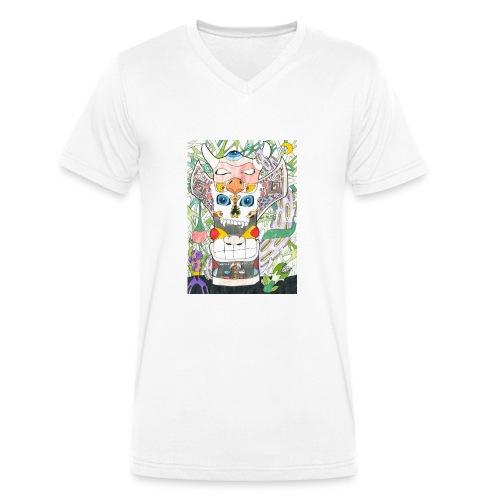 Totem - T-shirt ecologica da uomo con scollo a V di Stanley & Stella