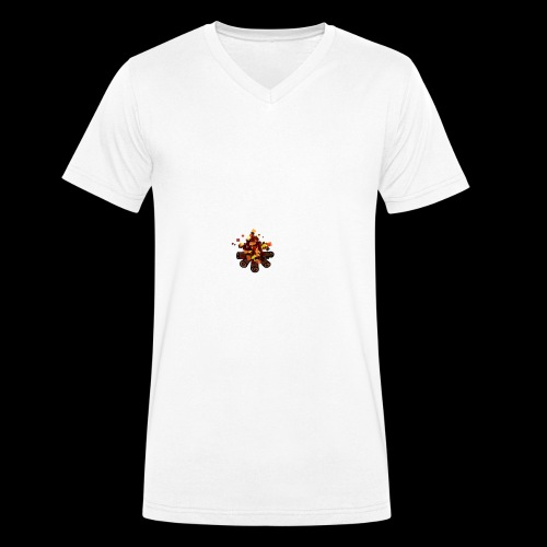 Lagerfeuer - Männer Bio-T-Shirt mit V-Ausschnitt von Stanley & Stella