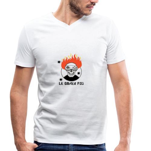 logo mat - T-shirt bio col V Stanley & Stella Homme