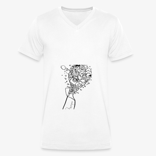 shampoo doodles - Men's Organic V-Neck T-Shirt by Stanley & Stella