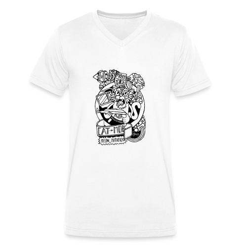 #CATMOB: Meow, mutafucka! (Outline) - Camiseta ecológica hombre con cuello de pico de Stanley & Stella