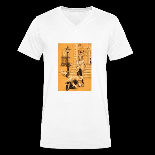 design pour homme, homme en costume avec son chien - T-shirt bio col V Stanley & Stella Homme