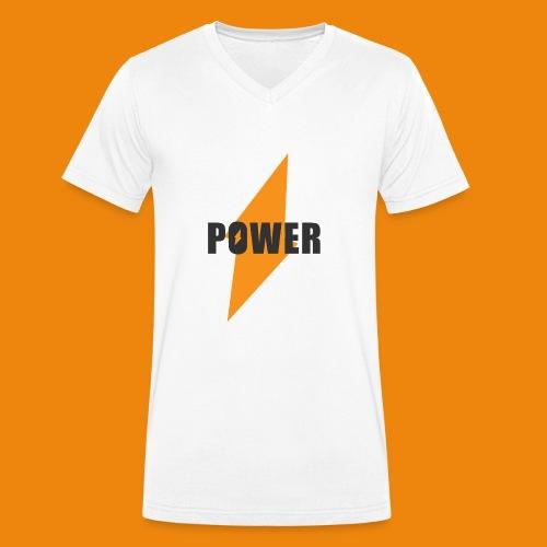 POWER - Männer Bio-T-Shirt mit V-Ausschnitt von Stanley & Stella