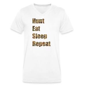 Hunt, Eat, Sleep, Repeat - Männer Bio-T-Shirt mit V-Ausschnitt von Stanley & Stella