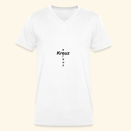 kreuz - Männer Bio-T-Shirt mit V-Ausschnitt von Stanley & Stella