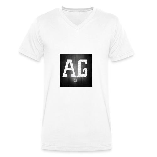 AGLOGO20-png - Mannen bio T-shirt met V-hals van Stanley & Stella