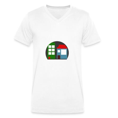 Minetopia T-Shirt - Mannen bio T-shirt met V-hals van Stanley & Stella
