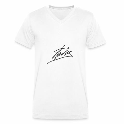 Stan Lee - Männer Bio-T-Shirt mit V-Ausschnitt von Stanley & Stella