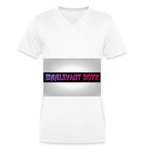 Irrelevant Boyz Grey And Luminous - Men's Organic V-Neck T-Shirt by Stanley & Stella