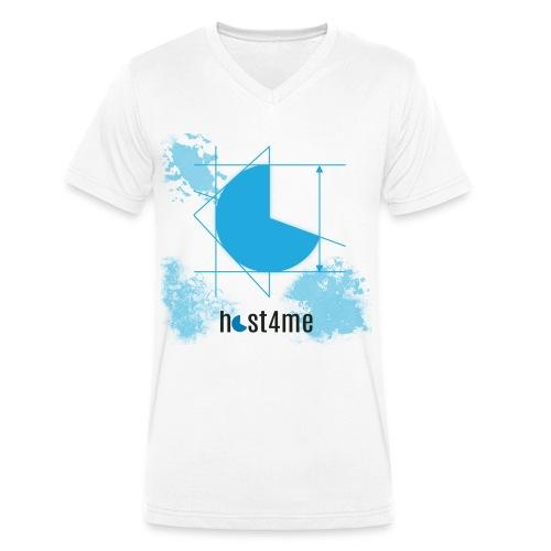 host4me Casual Look - Männer Bio-T-Shirt mit V-Ausschnitt von Stanley & Stella