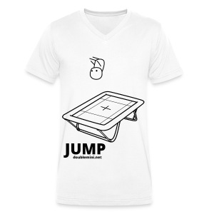 Trampoline JUMP shirt white - Men's Organic V-Neck T-Shirt by Stanley & Stella