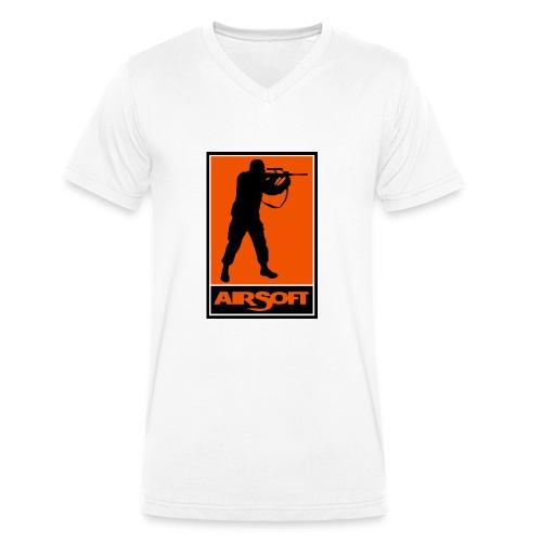 airsoft - Camiseta ecológica hombre con cuello de pico de Stanley & Stella