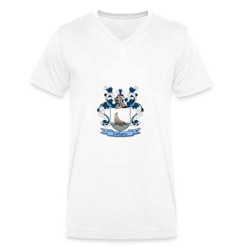 Lithgow Family Crest - Men's Organic V-Neck T-Shirt by Stanley & Stella