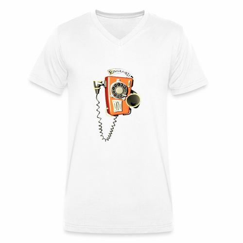 Ringlord Telefon Wandtelefon - Männer Bio-T-Shirt mit V-Ausschnitt von Stanley & Stella