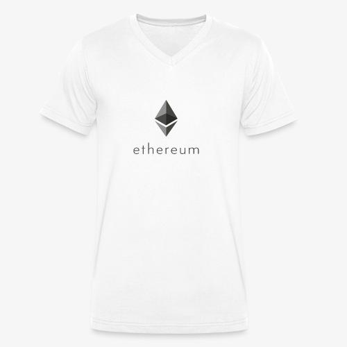 Ethereum Logo - Männer Bio-T-Shirt mit V-Ausschnitt von Stanley & Stella