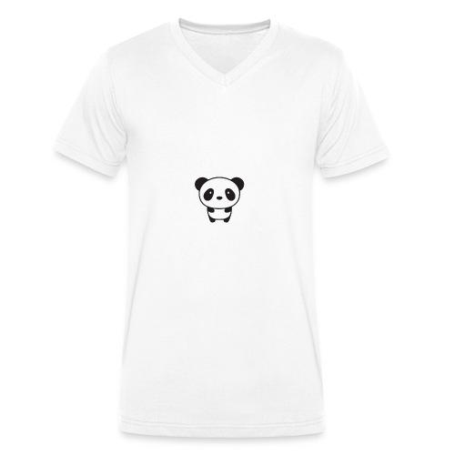 PANDA - Men's Organic V-Neck T-Shirt by Stanley & Stella