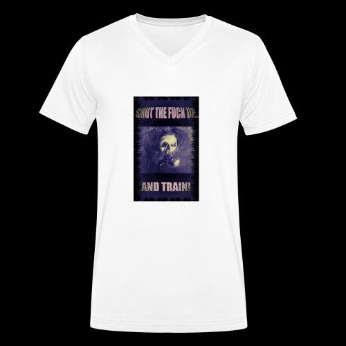 Shut the f up.... and TRAIN! Limited Purple - Männer Bio-T-Shirt mit V-Ausschnitt von Stanley & Stella