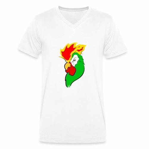 COCKTAIL ON FIRE - Camiseta ecológica hombre con cuello de pico de Stanley & Stella