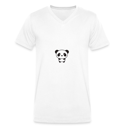 PANDA - Men's Organic V-Neck T-Shirt by Stanley & Stella